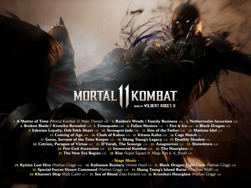 bande originale de mortal kombat 11 track list