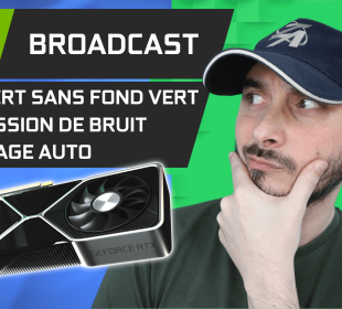 nvidia broadcast fond vert suppression de bruit