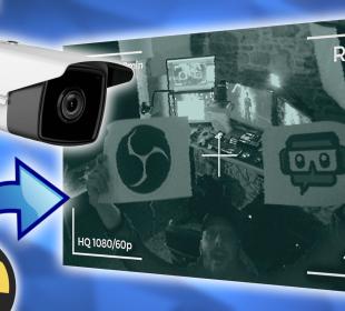 créer une scène de caméra de surveillance sur obs