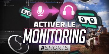 activer le monitoring audio sur obs et streamlabs obs #shorts