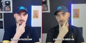 elgato face cam vs logitech brio éclairage normal
