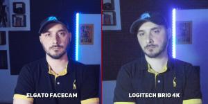 elgato facecam vs logitech brio faible luminosité
