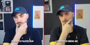 elgato facecam vs logitech brio meilleurs réglages manuels